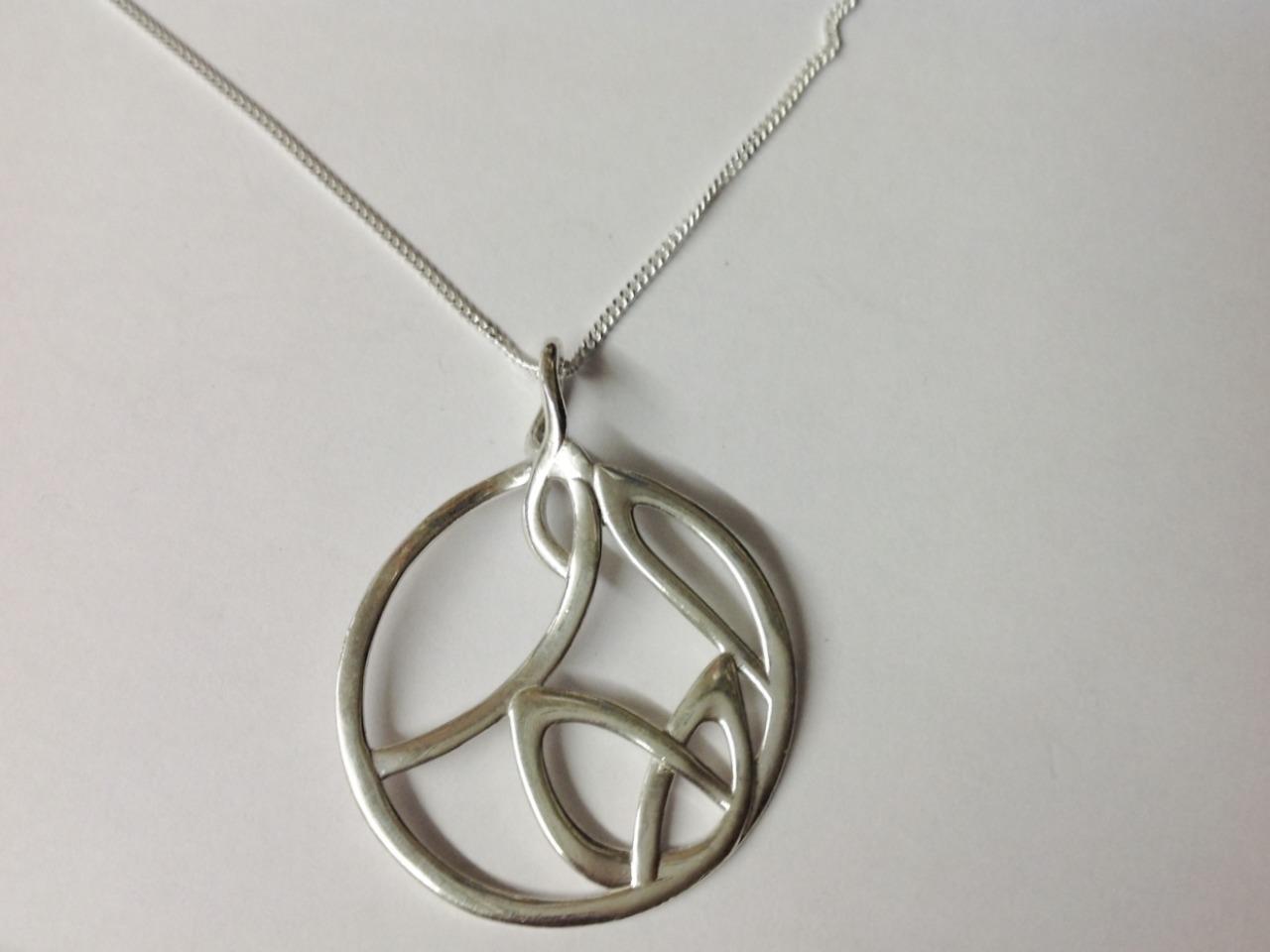 Large silver pendant circle pendants celtic gold silver pendant aloadofball Choice Image